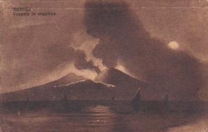 Italy Napoli Vesuvio in eruzione 1920