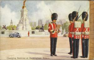 Changing sentries Buckingham Palace military army uniform