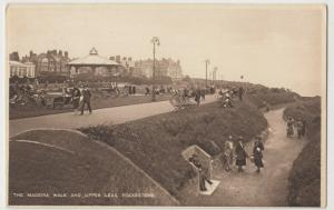 Kent; Madeira Walk & Upper Leas, Folkestone PC 1928, To Mrs Lawrence, Eastbourne