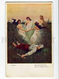 257050 NUDE Fairy WITCH Dreaming Shepherd by KORPAL Vintage PC