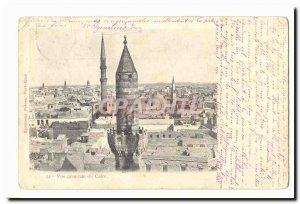 Egypt Old Postcard General view of Cairo