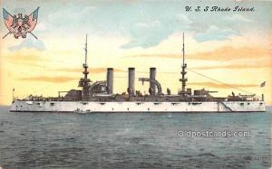 USS Rhode Island Military Battleship 1911