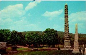 Herkimer NY General Herkimer's Grave Monument Postcard unused 1960s