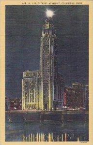 Ohio Columbus A I U Citadel At Night