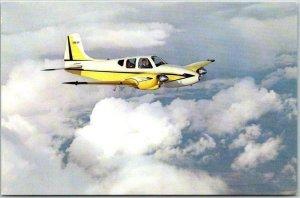 1960 BEECHCRAFT Aviation Aircraft Advertising Postcard Model B95 Travel Air