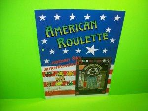 Playmont AMERICAN ROULETTE Original Slot Machine Promo Flyer German Text Rare