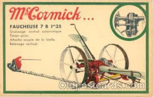 Advertising McCormick Tractors Unused