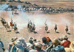 Postcard Africa native ethnic morocco  folklore ritual horse warriors