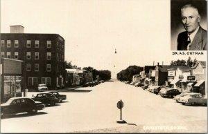 Canistota SD~Hamm's Beer Sign~Ken's Tavern~McCue Cafe~Standard Gas~1950s RPPC