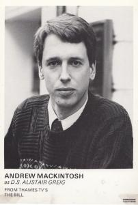 Andrew Mackintosh as DS Alistair Greig in ITV The Bill Cast Card Photo