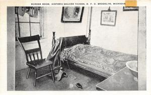 RFD Brooklyn Michigan~Walker Tavern~Murder Room~Stuff on Floor~1940s B&W Linen