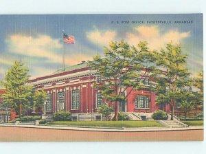 Linen POST OFFICE SCENE Fayetteville Arkansas AR AF1013