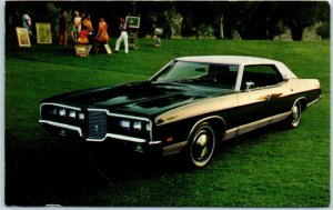 1971 FORD LTD 4-Door Hardtop Postcard Black / White Car Advertising w/ PA Cancel