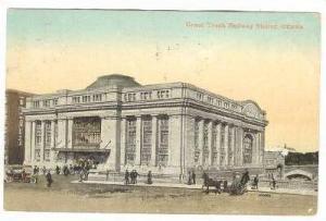 Exterior, Grand Trunk Railway Station,Ottawa,Canada,PU-1911