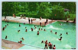 NEWMARKET, Ontario, CANADA  Peter Gorman SWIMMING POOL  c1980s  Postcard