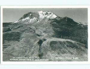 Pre-1950 rppc NICE VIEW Mount Lassen - Mineral Near Redding & Red Bluff CA W0470