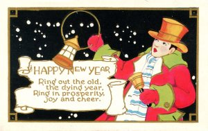 Greeting - New Year      (embossed, gold)
