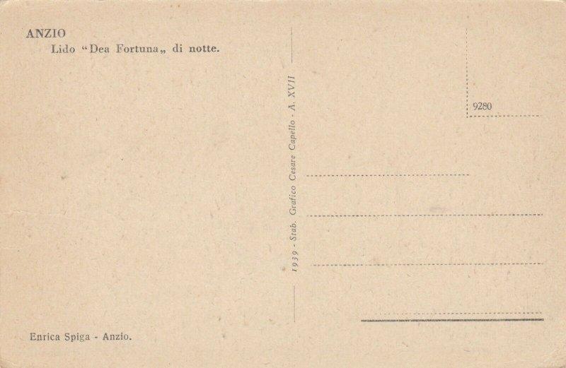 ANZIO ,  Italy , 1900-10s ; Lido Dea Fortuna di notte