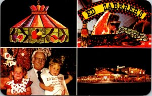 1960s Ed Zaberer's Just Be the Best Family Restaurant World Wildwood NJ POSTCARD