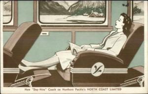 Art Deco North Coast Ltd RR Train Int Northern Pacific Yellowstone Park Line