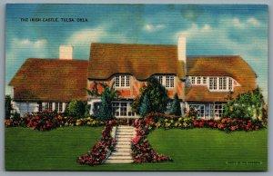 Postcard Tulsa OK c1939 The Irish Castle Irish Cottage 1207 E. 21st St. Linen