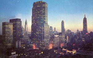 NY - New York City. Night Falls on Midtown Manhattan