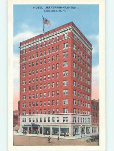 Unused Linen JEFFERSON CLINTON HOTEL Syracuse New York NY t0386@
