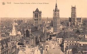 Gand Belgium, Belgique, Belgie, Belgien Panorama Eglise St Nicholas Gand Pano...
