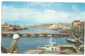 Willemstad, Curacao, N.A., Showing Santa Anna Bay and pontoon bridge, 1959 used