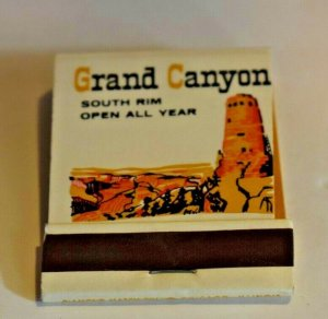 Grand Canyon South Rim Open All Year Fred Harvey 20 Strike Matchbook