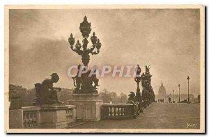 CARTE Postale Old Paris while strolling decorative Reasons Pont Alexandre III