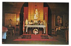 VT Isle La Motte Altar Fort St Anne Shrine Vermont Vtg Postcard