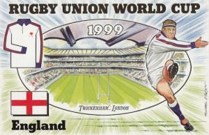 England Twickenham Stadium Rugby World Cup Uniform Postcard