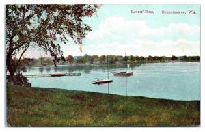 Early 1900s Lover's Rest, Oconomowoc, WI Postcard
