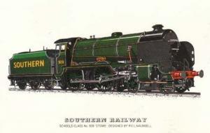 Southern Railway Schools Class 928 Stowe Train Postcard