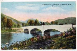 MA - Mohawk Trail. Bridge over Deerfield River at Charlemont