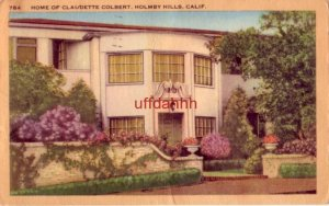 HOME OF CLAUDETTE COLBERT HOLMBY HILLS, CA 1948