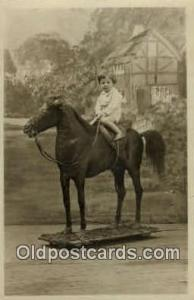 Toy horse Real Photo Postcard Postcards  Toy horse