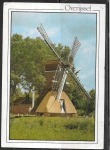 Netherlands Overijssal windmill (5x7 PC) mailed in 1987