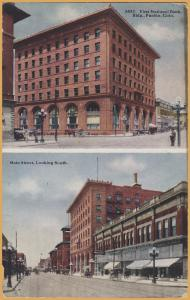 Pueblo, COLO., First National Bank & Main Street looking south-