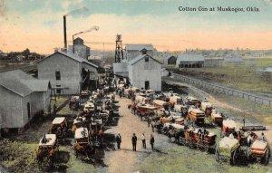 Muskogee Oklahoma Cotton Gin Vintage Postcard AA25384