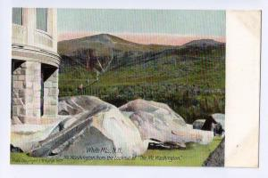 Mt Washington Hotel Postcard from Lookout White Mountains