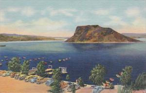 New Mexico Hot Springs Boat Landing & Bayhing Beach Elephant Butte Lake Curteich