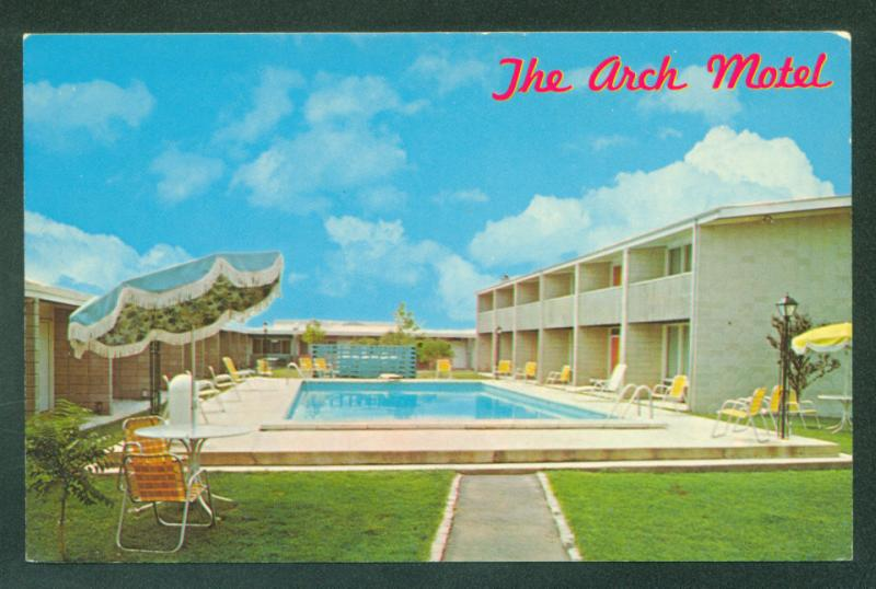 Arch Motel Somerville New Jersey Somerset County Swimming Pool Hotel Postcard