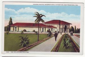 P359 JL, 1915 postcard panama-pacific expo phillipines pavilion san fran calif