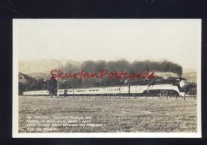 RPPC SOUTHERN PACIFIC RAILROAD STREAMLINER TRAIN DAYLIGHT REAL PHOTO POSTCARD