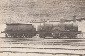 LB & SC Dieppe Class 2-2-2 Antique Real Photo Train Postcard