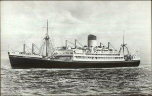Steamship Ceramic Shaw Savill Line Real Photo Postcard