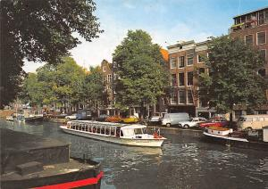 Netherlands Amsterdam Holland Prinsengracht with Anne Frank House