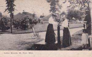 ST PAUL , Minnesota, 1907 ; Scenic view, Indian Mounds